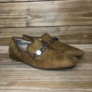 Fratelli Suede Perforated Loafers Size 13
